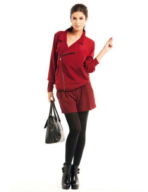 Product, Brown, Sleeve, Collar, Shoulder, Textile, Joint, Style, Knee, Bag,