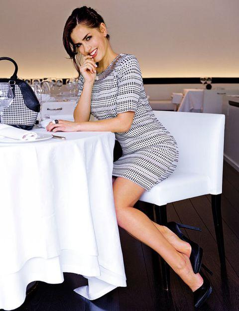 Leg, Product, Tablecloth, Human leg, Shoe, Dress, White, Sitting, Linens, Fashion,