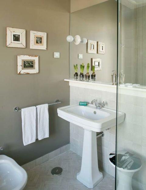 Plumbing fixture, Blue, Bathroom sink, Room, Architecture, Interior design, Property, Tile, Wall, Floor,