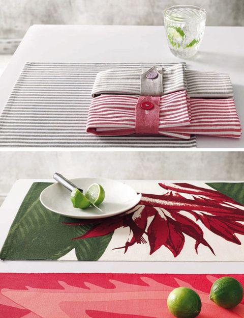 Serveware, Dishware, Green, Textile, Leaf, Tablecloth, Napkin, Tableware, Plate, Linens,