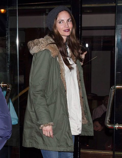 Sleeve, Jacket, Textile, Coat, Denim, Fashion, Street fashion, Long hair, Bag, Beige,
