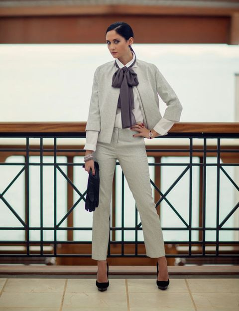 Sleeve, Trousers, Collar, Dress shirt, Suit trousers, Coat, Outerwear, Style, Blazer, Bag,