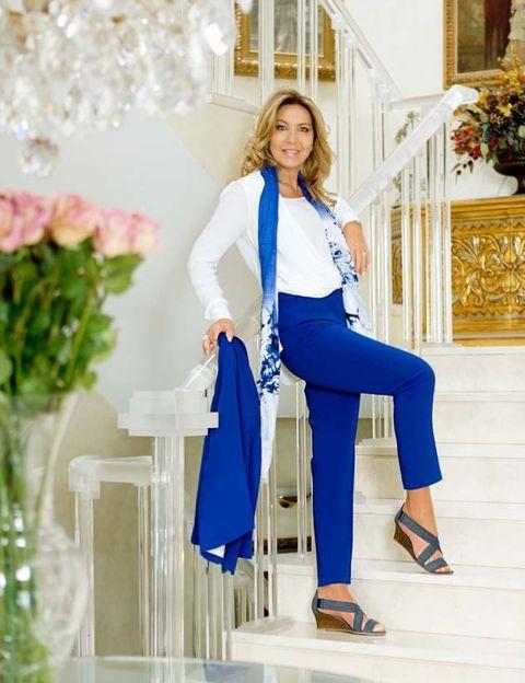 Blue, Outerwear, White, Style, Knee, Electric blue, Fashion accessory, Fashion, Aqua, Street fashion,