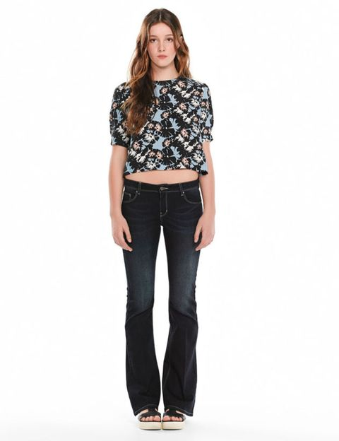 Clothing, Brown, Sleeve, Denim, Trousers, Collar, Shoulder, Textile, Jeans, Standing,