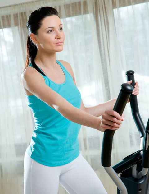 Shoulder, Elbow, Joint, Wrist, Exercise machine, Chest, Waist, Curtain, Active pants, Thigh,