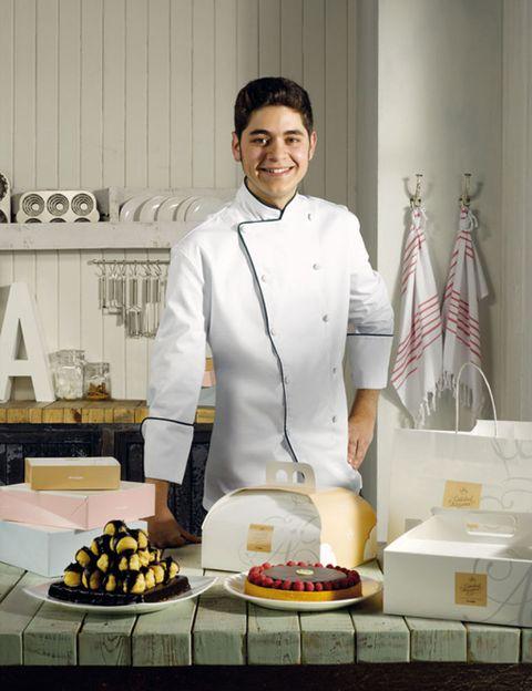 Cook, Chef's uniform, Food, Chef, Cooking, Kitchen, Flag, Countertop, Uniform, Culinary art,