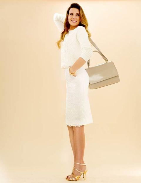 Sleeve, Shoulder, Joint, Fashion, Beauty, One-piece garment, Knee, Fashion model, Day dress, Bag,