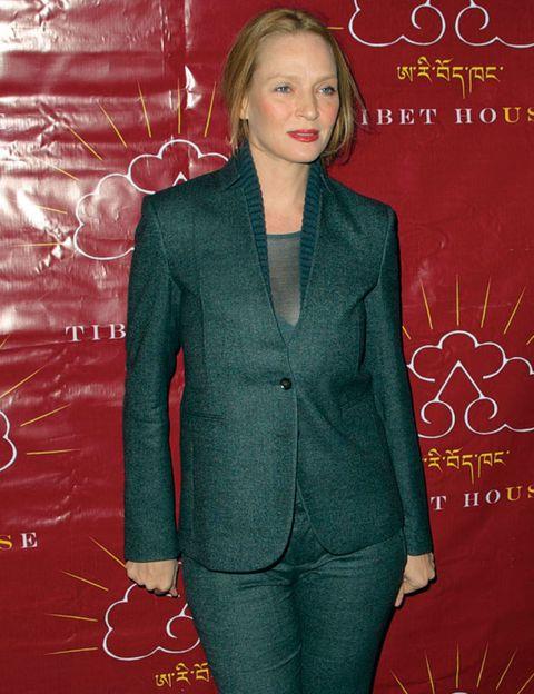 Sleeve, Style, Formal wear, Blazer, Pocket, Blond, Button, Pantsuit, Tights, Fashion design,
