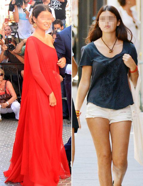 Clothing, Shoulder, Joint, Dress, Style, Denim, Street fashion, Fashion, Thigh, Waist,