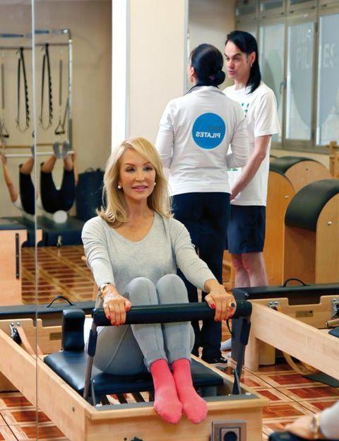 Sitting, Lap, Physical fitness, Exercise machine, Balance, Ankle,