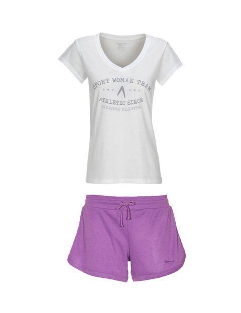 Product, Sleeve, White, Purple, Lavender, Sportswear, Style, Shorts, Fashion, Magenta,