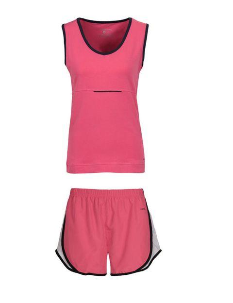 Sleeveless shirt, Neck, Maroon, Waist, Day dress, Vest, Costume accessory, One-piece garment, Active tank, Undershirt,