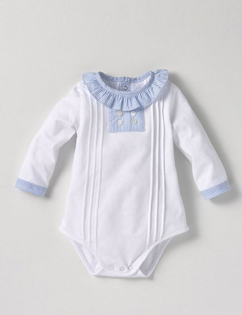 Blue, Product, Sleeve, Collar, Textile, White, Pattern, Baby & toddler clothing, Electric blue, Fashion,