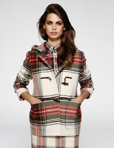 Clothing, Plaid, Tartan, Dress shirt, Collar, Pattern, Sleeve, Shoulder, Textile, Joint,