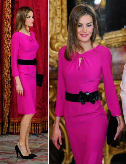 Clothing, Dress, Shoulder, Joint, Outerwear, Red, Formal wear, Style, Waist, Magenta,