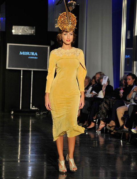 Clothing, Event, Fashion show, Dress, Style, Fashion model, Runway, Crown, Fashion, One-piece garment,