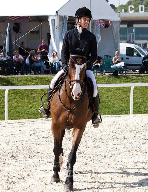 Human, Bridle, Halter, Horse supplies, Shoe, Rein, Horse, Saddle, Working animal, Horse tack,