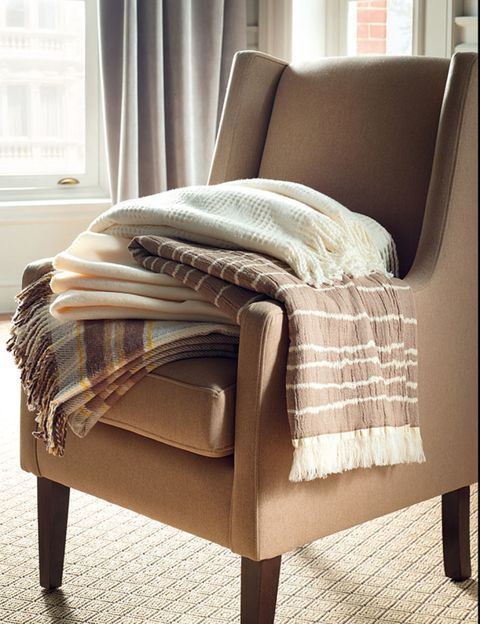 Brown, Interior design, Room, Textile, Window covering, Furniture, Flooring, Floor, Window treatment, Linens,
