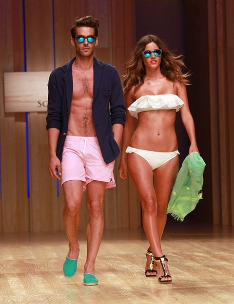 Clothing, Eyewear, Hair, Face, Leg, Human leg, Brassiere, Navel, Fashion accessory, Sunglasses,