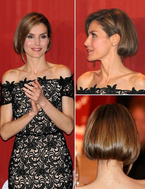 Hair, Head, Smile, Hairstyle, Shoulder, Dress, Red, Style, Strapless dress, Beauty,