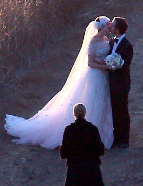 People, Photograph, Standing, Formal wear, Suit, Interaction, Dress, Wedding dress, Bride, Love,