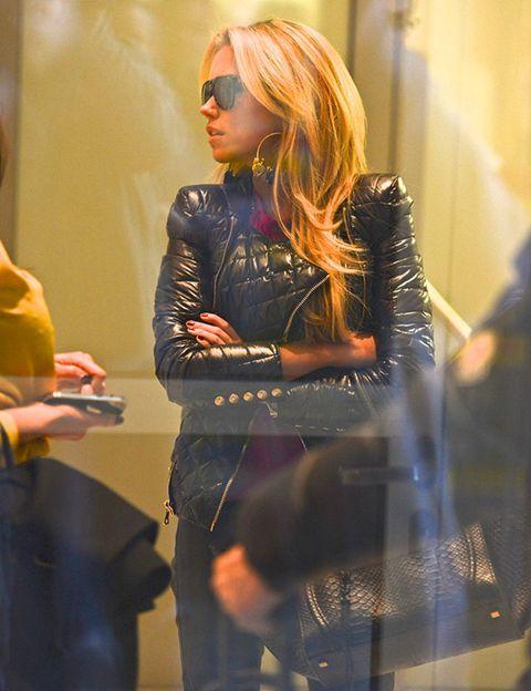 Eyewear, Vision care, Sunglasses, Street fashion, Fashion, Goggles, Blond, Bag, Fashion model, Model,