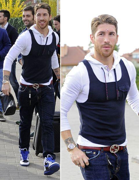 Product, Trousers, Textile, Jeans, Denim, Style, T-shirt, Waist, Chest, Street fashion,
