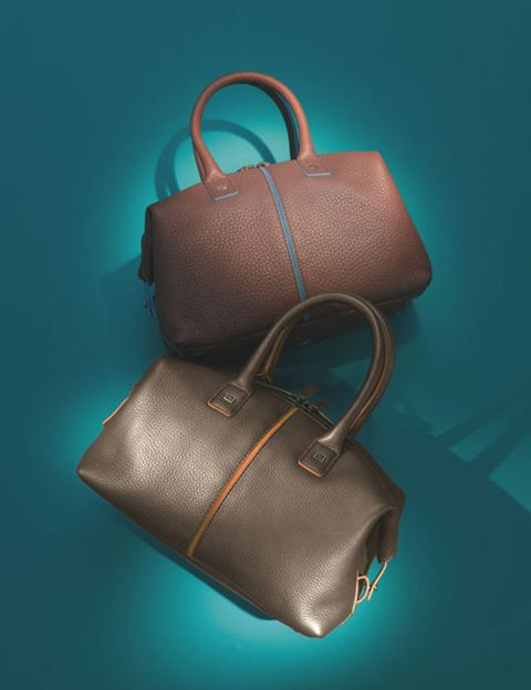 Brown, Product, Bag, Fashion accessory, Leather, Luggage and bags, Shoulder bag, Teal, Strap, Turquoise,