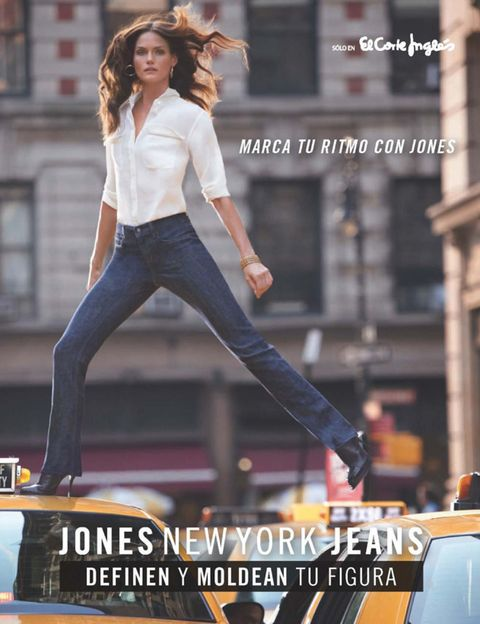 Trousers, Denim, Jeans, Style, T-shirt, Street fashion, Model, Flash photography, Fashion model, Brown hair,