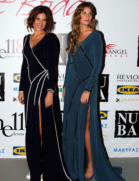 Shoulder, Dress, Formal wear, Style, One-piece garment, Fashion, Fashion model, Electric blue, Day dress, Fashion design,