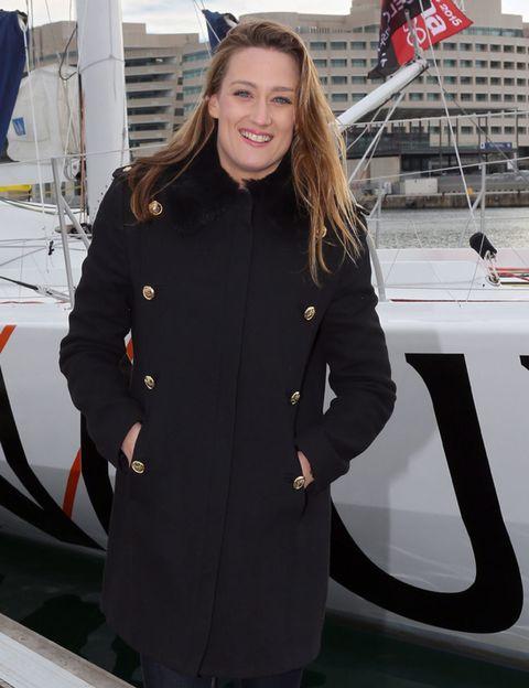 Sleeve, Collar, Overcoat, Uniform, Boat, Flag, Employment, Naval architecture, Job, Blond,