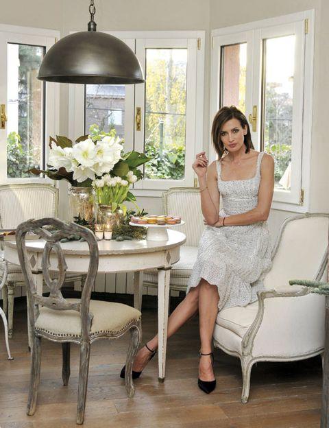 Interior design, Room, Furniture, Floor, White, Table, Dress, Flooring, Interior design, Home,