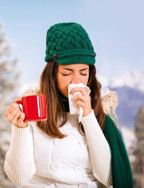 Winter, Textile, Hand, Headgear, Costume accessory, Cap, Beanie, Knit cap, Bonnet, Drinking,