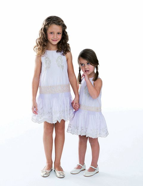 Clothing, Sleeve, Shoulder, Textile, Standing, Dress, White, Happy, Child, Style,