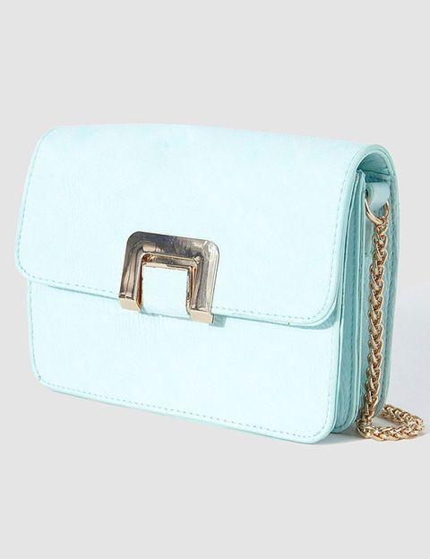 Teal, Aqua, Turquoise, Azure, Beige, Rectangle, Shoulder bag, Leather, Baggage,
