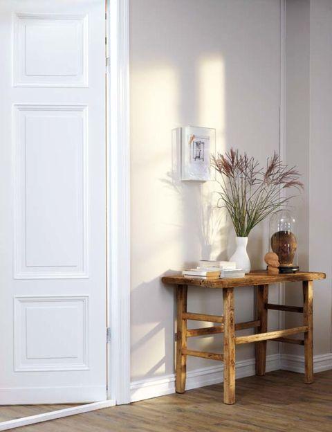 Wood, Floor, Room, Flooring, Wall, Interior design, Table, Wood flooring, Hardwood, Door,