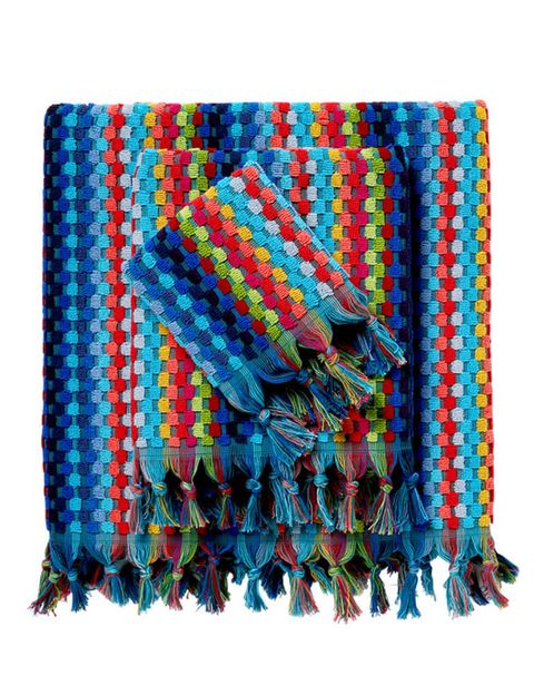 Textile, Pattern, Electric blue, Creative arts, Craft, Knitting, Weaving, Woven fabric, Needlework, Fiber,