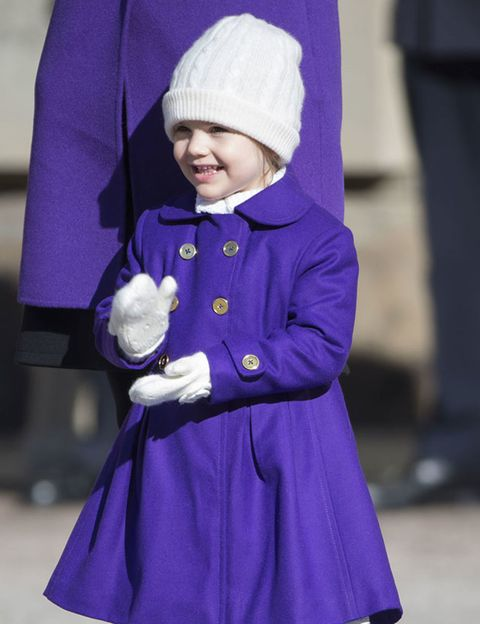 Sleeve, Textile, Purple, Winter, Child, Dress, Headgear, Violet, Electric blue, Baby & toddler clothing,