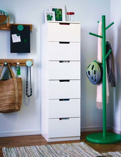 Green, Wood, Chest of drawers, Drawer, Cabinetry, Dresser, Basket, Teal, Turquoise, Interior design,