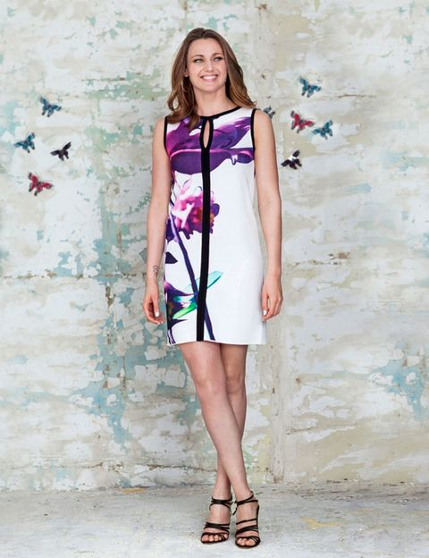 Clothing, Dress, Shoulder, Joint, One-piece garment, Style, Pink, Day dress, Pattern, Fashion,