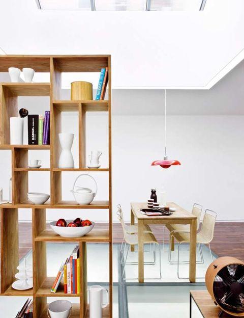 Wood, Room, Interior design, Shelving, Wall, Shelf, Ceiling, Serveware, Light fixture, Interior design,