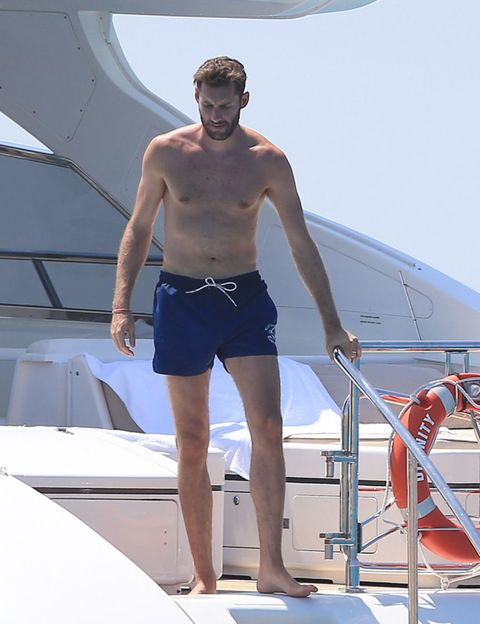 board short, Shorts, Watercraft, Vacation, Bermuda shorts, Chest, Boat, Barechested, Muscle, Trunks,