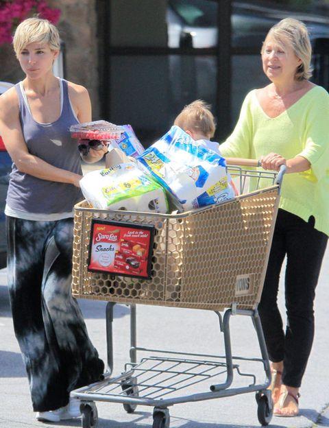 Product, Shopping cart, Cart, Street fashion, Basket, Plastic bag, Shopping, Storage basket, Wicker, sweatpant,