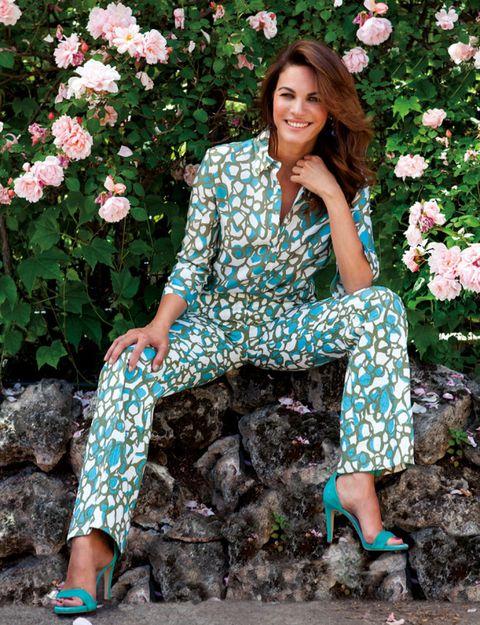 Green, Petal, Flower, Pattern, Pink, Style, Street fashion, Fashion, Spring, Turquoise,