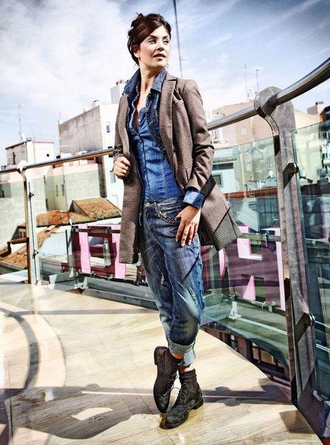 Denim, Textile, Outerwear, Jacket, Jeans, Style, Street fashion, Bag, Pocket, Leather,