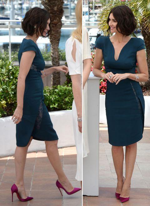 Clothing, Footwear, Leg, Dress, Shoulder, Shoe, Joint, White, Formal wear, Style,