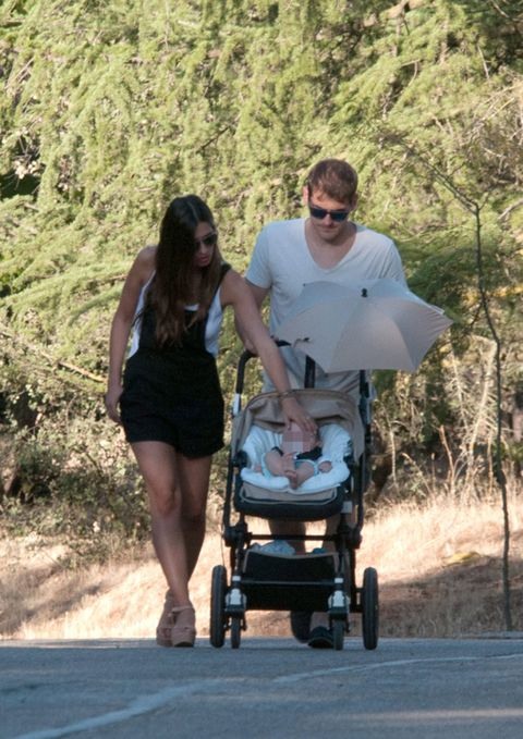 Human, Product, Dress, People in nature, Sunglasses, Baby Products, Baby carriage, Rolling, Baby,