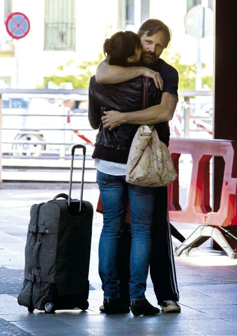 Jeans, Denim, Interaction, Luggage and bags, Travel, Street fashion, Romance, Bag, Love, Snapshot,