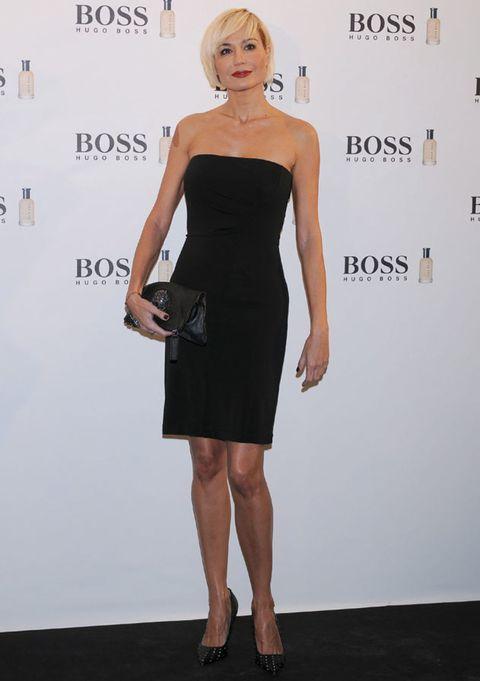 Clothing, Dress, Shoulder, Joint, Human leg, Style, Waist, One-piece garment, Premiere, Cocktail dress,