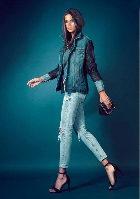 Sleeve, Jacket, Outerwear, Style, Denim, Knee, Fashion model, Fashion, Model, Blazer,